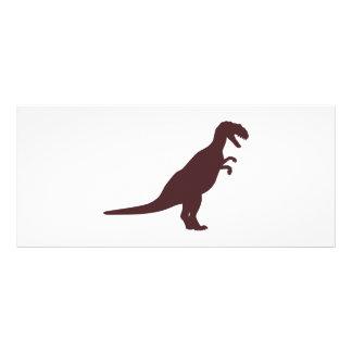 Dinosaurio Brown Diseño De Tarjeta Publicitaria