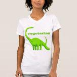 """Dinosaurio -"" camiseta vegetariana del dinosaurio"
