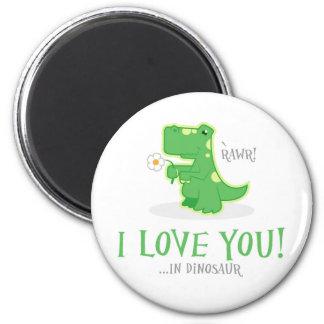 Dinosaurio cariñoso imán de frigorifico