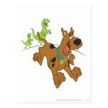 Dinosaurio Chasing2 de Scooby Doo Tarjetas Postales