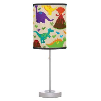 Dinosaurio colorido adorable lámpara de mesa