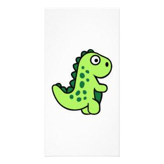 Dinosaurio cómico tarjetas fotográficas personalizadas
