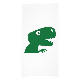 Dinosaurio cómico tarjeta fotografica