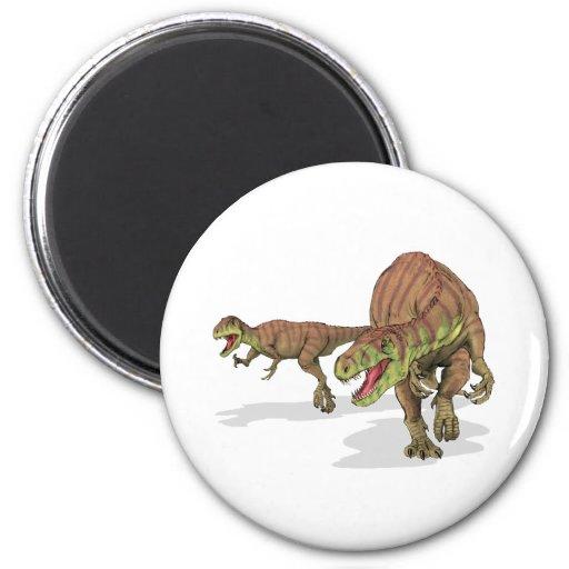 Dinosaurio de Afrovenator Abakensis Imán Redondo 5 Cm