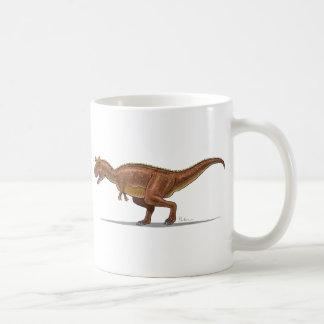 Dinosaurio de Carnotraurus de la taza