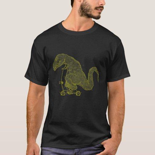 Dinosaurio de ciclo (amarillo) playera