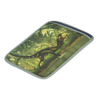 Dinosaurio de Dilong en un bosque Fundas Para iPads
