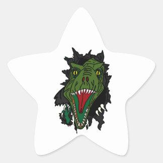 Dinosaurio de estallido calcomanías forma de estrellas personalizadas