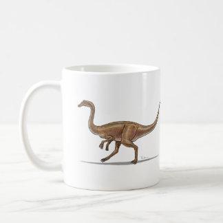 Dinosaurio de Gallimimus de la taza