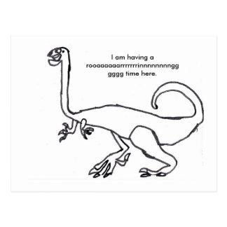 Dinosaurio de Gallimimus Tarjetas Postales