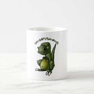 ¡Dinosaurio de Grumpysaurus que es gruñón! Tazas De Café