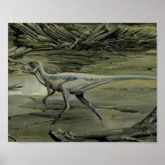 Dinosaurio de Hypsilophodon del vintage, período Póster