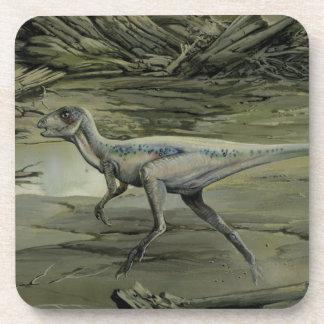 Dinosaurio de Hypsilophodon del vintage Posavasos De Bebidas