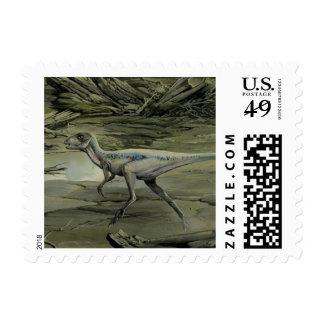 Dinosaurio de Hypsilophodon del vintage Franqueo