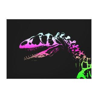Dinosaurio de neón del Allosaurus del arte del vec Impresiones En Lona