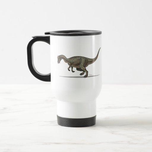 Dinosaurio de Pachycephalosaurus de la taza del vi