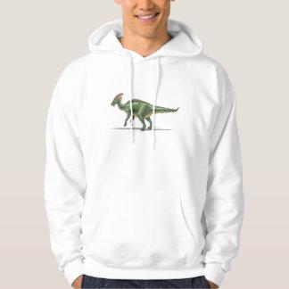 Dinosaurio de Parasaurolophus de la sudadera con