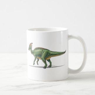 Dinosaurio de Parasaurolophus de la taza