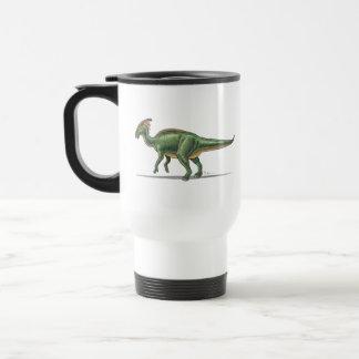Dinosaurio de Parasaurolophus de la taza del viaje
