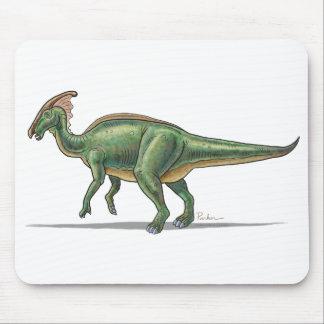Dinosaurio de Parasaurolophus del cojín de ratón Tapete De Ratón