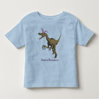 dinosaurio de pascua playera de bebé