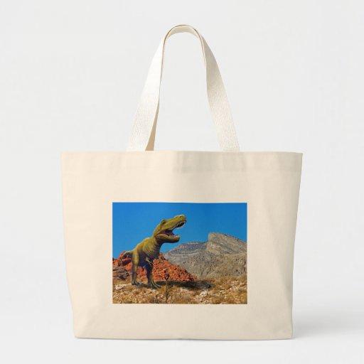 Dinosaurio de Rajasarus Bolsa De Tela Grande