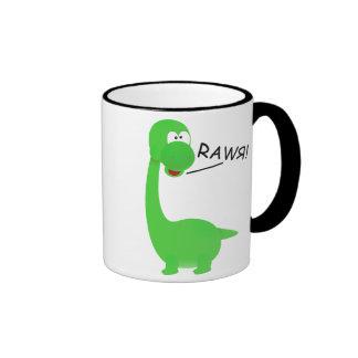 Dinosaurio de Rawrosaur Taza De Dos Colores