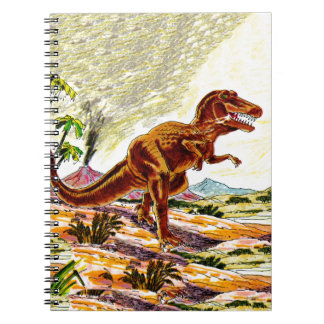 Dinosaurio de Rex del Tyrannosaurus Libros De Apuntes Con Espiral