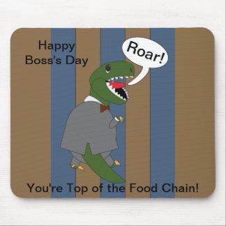 Dinosaurio de T-Rex del día de Boss varón Alfombrillas De Ratón