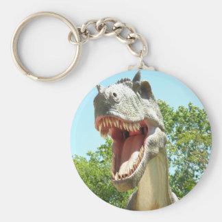 Dinosaurio de T-Rex del Tyrannosaurus Llavero Redondo Tipo Pin