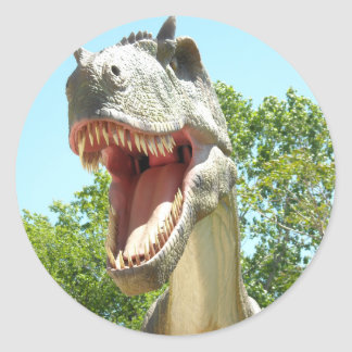 Dinosaurio de T-Rex del Tyrannosaurus Pegatinas Redondas