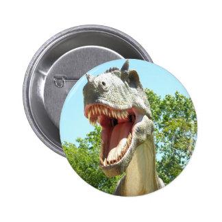 Dinosaurio de T-Rex del Tyrannosaurus Pin Redondo 5 Cm