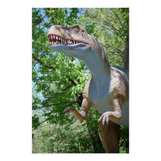 Dinosaurio de T-Rex del Tyrannosaurus Póster