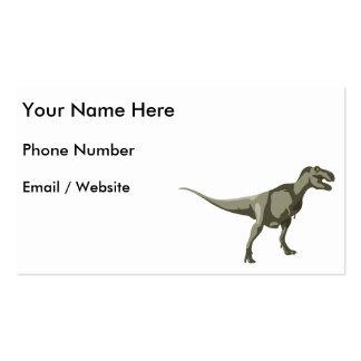 Dinosaurio de T-rex, diseño de Dino Tarjetas De Visita