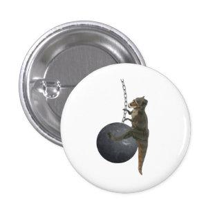Dinosaurio de T-Rex que arruina la bola Pin Redondo De 1 Pulgada