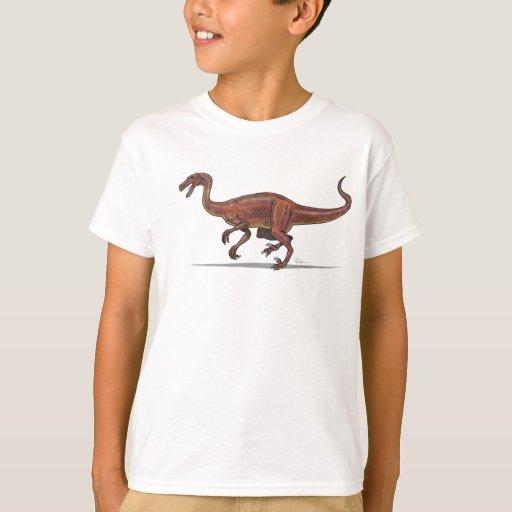 Dinosaurio de Troodon de la camiseta de los niños