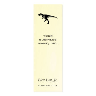 Dinosaurio del Alectrosaurus Tarjetas De Visita Mini