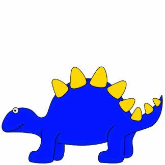 Dinosaurio del azul de la escultura de la foto fotoescultura vertical