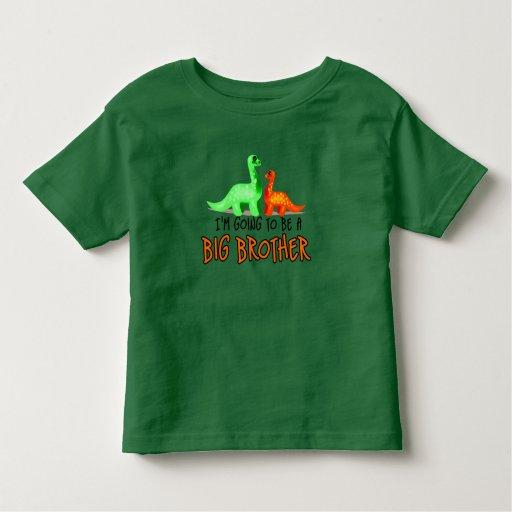 Dinosaurio del BB voy a ser un hermano mayor Polera