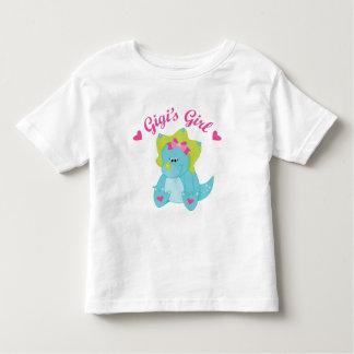 Dinosaurio del chica de Gigis Playera De Bebé