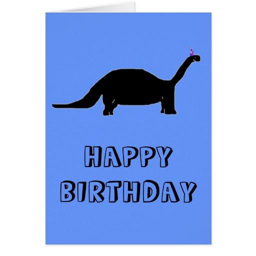 Dinosaurio del cumpleaños tarjetas