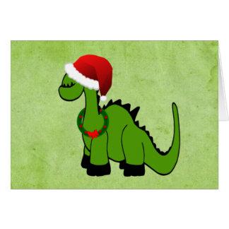 Dinosaurio del día de fiesta tarjeta de felicitación