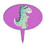 Dinosaurio del dibujo animado decoraciones para tartas