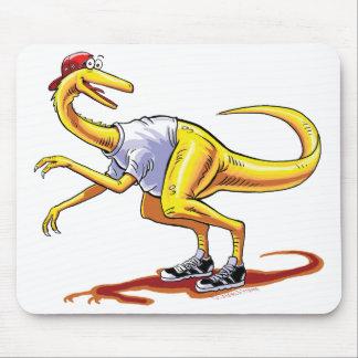 Dinosaurio del dibujo animado de Compy del cojín d Tapetes De Ratones