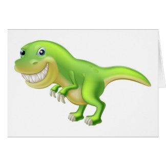 Dinosaurio del dibujo animado de T Rex Felicitación