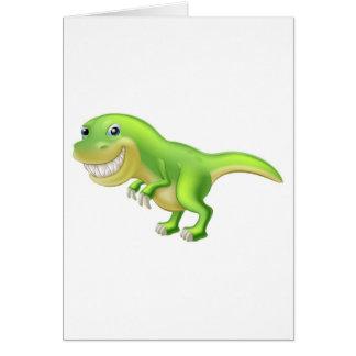 Dinosaurio del dibujo animado de T Rex Tarjeta