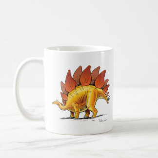 Dinosaurio del dibujo animado del Stegosaurus de Taza Clásica