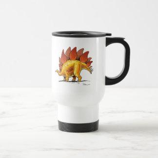Dinosaurio del dibujo animado del Stegosaurus de Taza De Viaje