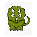 Dinosaurio del dibujo animado flyer personalizado