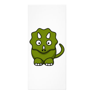 "Dinosaurio del dibujo animado folleto publicitario 4"" x 9"""